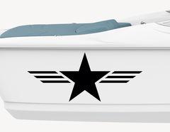 Bootsaufkleber Military Star