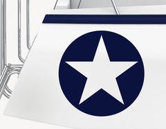 Bootsaufkleber Navy Star