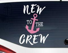 Autoaufkleber New to the Crew - Girl