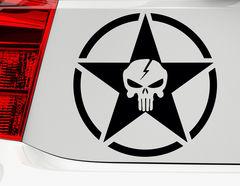 Autoaufkleber Skull Star