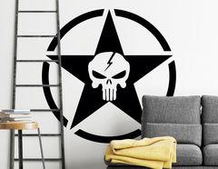 Wandtattoo Skull Star