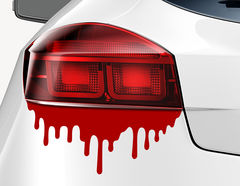 Autoaufkleber Dripping Blood-Set