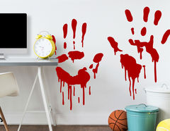 Wandtattoo Bloody Hands