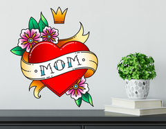 Wandtattoo Mom Heart