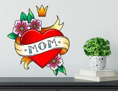Wandtattoo Mom Heart
