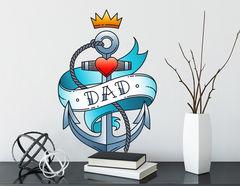 Wandtattoo Dad Anchor