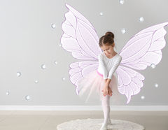 Wandtattoo Magic Wings & Diamonds