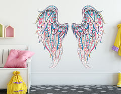 Wandtattoo Angle Wings Ethno-Style