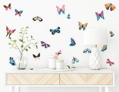 Wandtattoo Colorful Butterflies