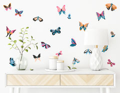 Wandtattoo Colorful Butterflies