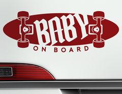 Autoaufkleber Skateboard Baby