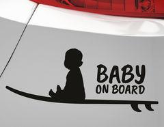 Autoaufkleber Surfer Baby