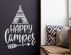 Wandtattoo Happy Camper