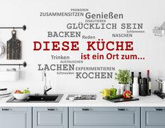Wandtattoo Wortwolke Diese Küche