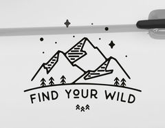 Autoaufkleber Find Your Wild