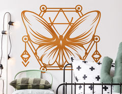 Wandtattoo Geometric Art Butterfly