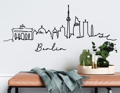 Wandtattoo Line-Art Skyline Berlin