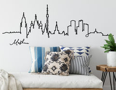 Wandtattoo Line-Art Skyline Moskau