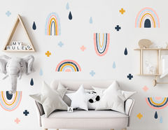 Wandtattoo Scandi-Chic Rainbows