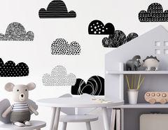 Wandtattoo Black Clouds