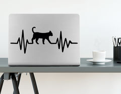 Wandtattoo Herzschlag mit Katze