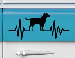 Autoaufkleber Herzschlag mit Hund
