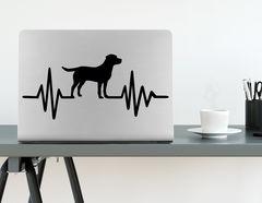 Wandtattoo Herzschlag mit Hund