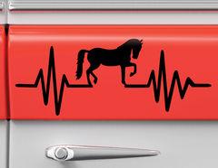 Autoaufkleber Herzschlag mit Pferd