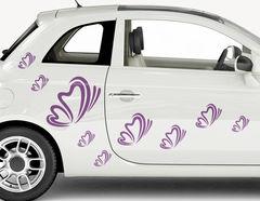 Autoaufkleber Butterfly Motion-Set