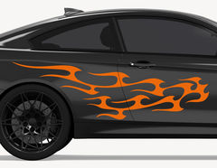Autoaufkleber Blazing Flames-Set