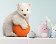 Wandtattoo Eisbär Baby Wolle