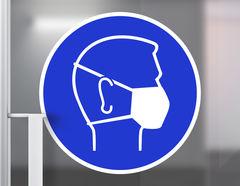 Wandtattoo Mund-Nasen-Schutz