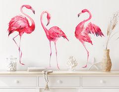 Wandtattoo Watercolor Flamingos