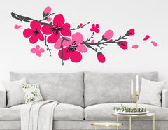 Wandtattoo Kirschblütenzweig Sakura