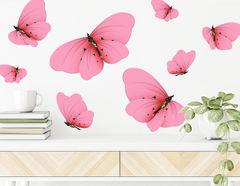 Wandtattoo Fuchsia Butterflies