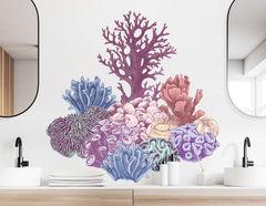 Wandtattoo Bunter Korallen-Zauber