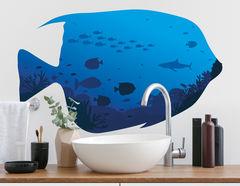 Wandtattoo Blauer Kaiserfisch