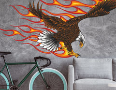 Wandtattoo Burning Bald Eagle