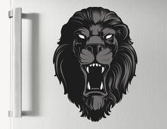 Wandtattoo Black Lion Head