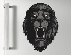 Wandtattoo Black Lion Head