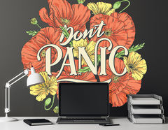 Wandtattoo Don't Panic Poppies