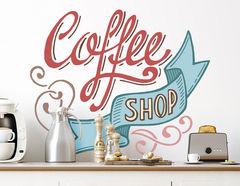 Wandtattoo Coffee Shop Lettering