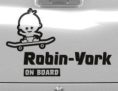 Autoaufkleber Skater Baby
