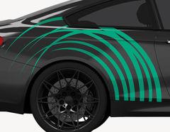 Autoaufkleber Wild Circles-Set