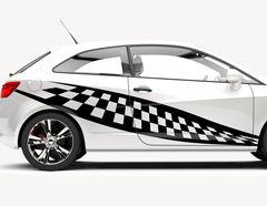 Autoaufkleber Speed Champion-Set