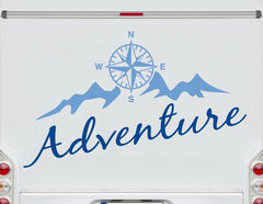 Autoaufkleber Compass to Adventure