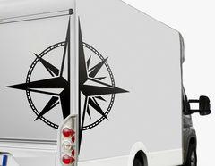 Autoaufkleber Split Compass