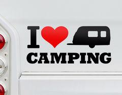 Autoaufkleber I Love Camping