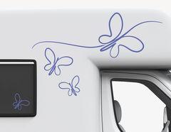 Autoaufkleber Line Art Butterfly-Set