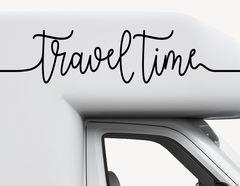 Autoaufkleber Travel Time-Set